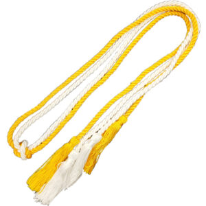 gold and yellow graduation cord